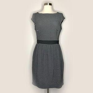 Shoshanna Striped Cap-Sleeve Dress